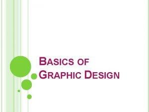 BASICS OF GRAPHIC DESIGN THE GRAPHIC DESIGN PROCESS