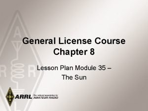 General License Course Chapter 8 Lesson Plan Module