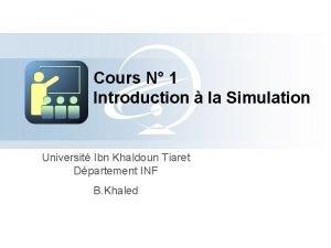 Cours N 1 Introduction la Simulation Universit Ibn