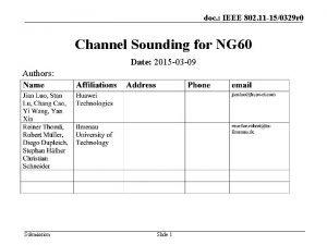 doc IEEE 802 11 150329 r 0 Channel