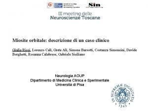 Miosite orbitale descrizione di un caso clinico Giulia