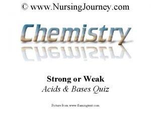 www Nursing Journey com Strong or Weak Acids