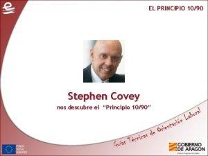 EL PRINCIPIO 1090 Stephen Covey nos descubre el