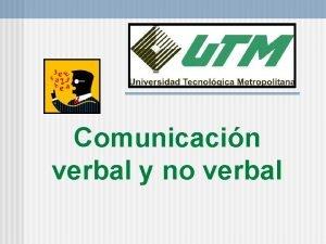 Comunicacin verbal y no verbal Formula VVV Equilibrio