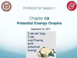 PHYSICS 197 Section 1 Chapter September 22 2017