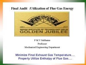 Final Audit Utilization of Flue Gas Energy P