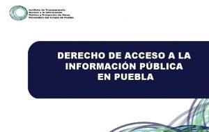 DERECHO DE ACCESO A LA INFORMACIN PBLICA EN