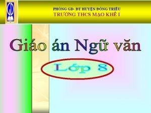 PHNG GD T HUYN NG TRIU TRNG THCS