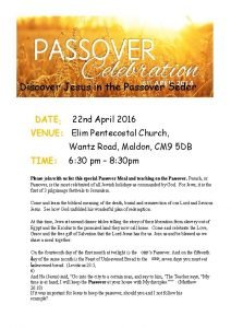 Discover Jesus in the Passover Seder DATE 22