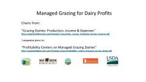 Managed Grazing for Dairy Profits Charts from Grazing