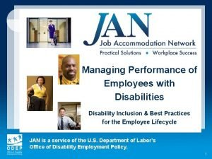 Managing Performance of Employees with Disabilities Disability Inclusion