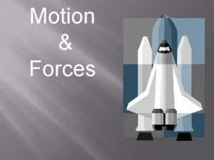 Motion Forces Force 1 2 Force F push