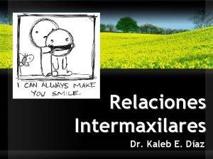 Relaciones Intermaxilares Dr Kaleb E Daz Relaciones Intermaxilares