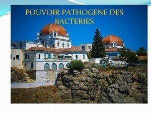 POUVOIR PATHOGENE DES BACTERIES POUVOIR PATHOGENE DES BACTERIES