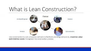 What is Lean Construction Owner ArchitectEngineer General Vendors