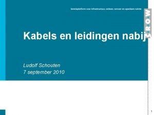 Kabels en leidingen nabij w Ludolf Schouten 7