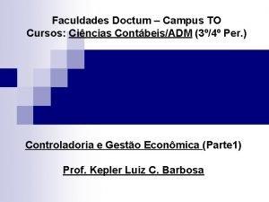 Faculdades Doctum Campus TO Cursos Cincias ContbeisADM 34