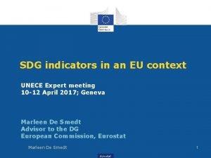 SDG indicators in an EU context UNECE Expert