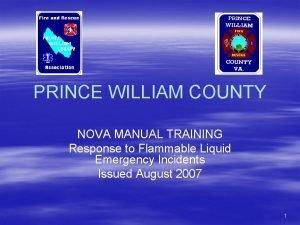 PRINCE WILLIAM COUNTY NOVA MANUAL TRAINING Response to