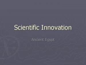 Scientific Innovation Ancient Egypt Mathematics How Egyptians did