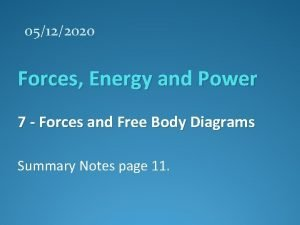 05122020 Forces Energy and Power 7 Forces and