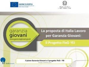 La proposta di Italia Lavoro per Garanzia Giovani