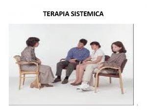 TERAPIA SISTEMICA 1 MODELOS PSICODINAMICOS MODELOS CONDUCTUALES MODELOS