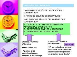 APRENDIZAJE COOPERATIVO 1 FUNDAMENTACIN DEL APRENDIZAJE COOPERATIVO 2