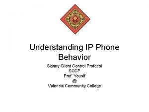 Understanding IP Phone Behavior Skinny Client Control Protocol