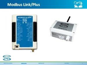 Modbus LinkPlus Sutron Corporation sutron com Modbus Link
