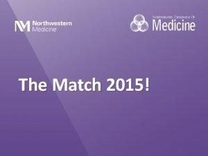 The Match 2015 Victoria Behrend Medical School Rutgers