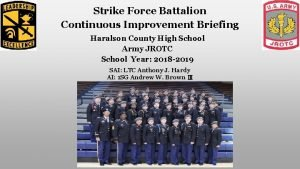 Strike Force Battalion Continuous Improvement Briefing Haralson County