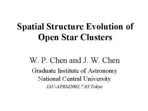 Spatial Structure Evolution of Open Star Clusters W