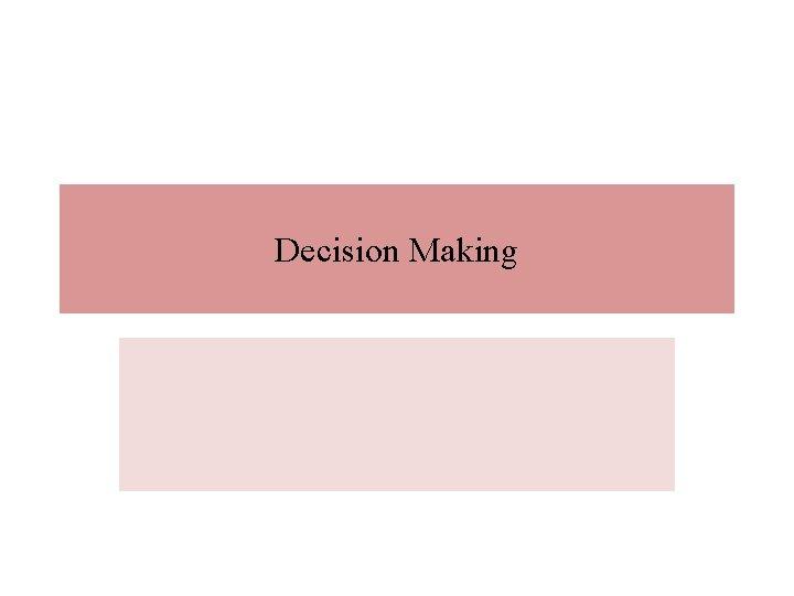 Decision Making Contents Basics Decision Decision Types Decisions