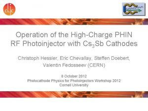 Operation of the HighCharge PHIN RF Photoinjector with