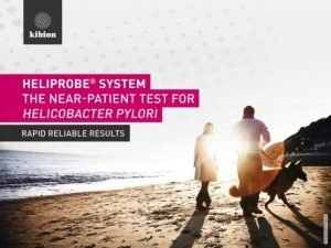 CONTENTS Helicobacter pylori Urea Breath Test Heliprobe System