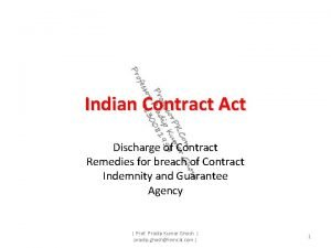 Indian Contract Act Discharge of Contract Remedies for
