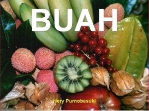 BUAH Hery Purnobasuki Asalusul Kompartemen Buah Coombe 1976