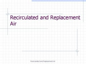 Recirculated and Replacement Air Recirculated And Replacement Air