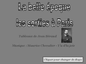Tableaux de Jean Braud Musique Maurice Chevalier Ya