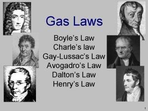 Gas Laws Boyles Law Charles law GayLussacs Law