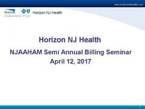 www horizon NJhealth com Horizon NJ Health NJAAHAM