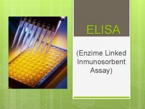 ELISA Enzime Linked Inmunosorbent Assay Inmunologa Clnica Lab