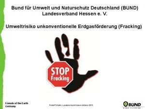Bund fr Umwelt und Naturschutz Deutschland BUND Landesverband