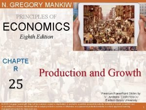 N GREGORY MANKIW PRINCIPLES OF ECONOMICS Eighth Edition