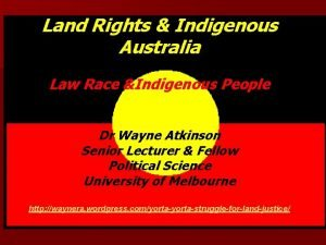 Land Rights Indigenous Australia Law Race Indigenous People