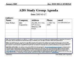 January 2005 doc IEEE 802 11 050025 r