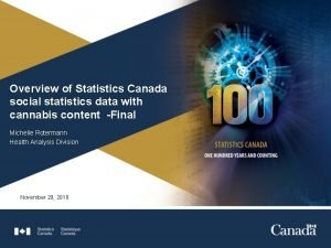 Overview of Statistics Canada social statistics data with