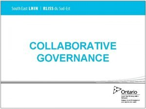 COLLABORATIVE GOVERNANCE SubRegion Forums Draft Terms of Reference
