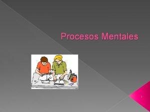 Procesos Mentales 1 PROCESOS COGNITIVOS BSICOS Los procesos